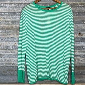 Talbots striped pullover sweater
